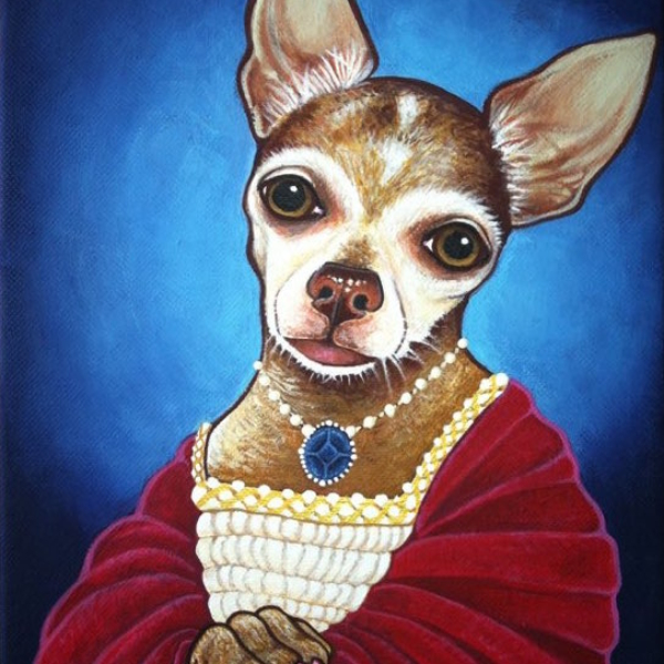 """Lola"" portrait 9x12 in acrylic"